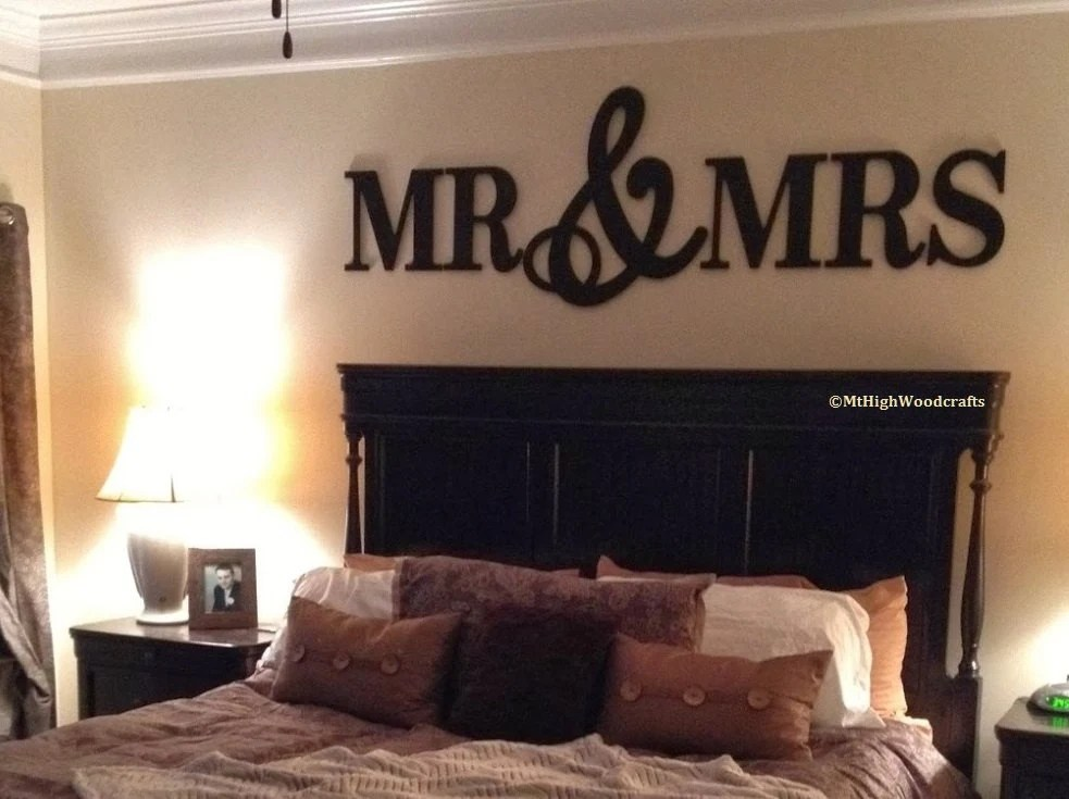 MR & MRS Wood LettersWall Décor-Painted Wood Letters Wall