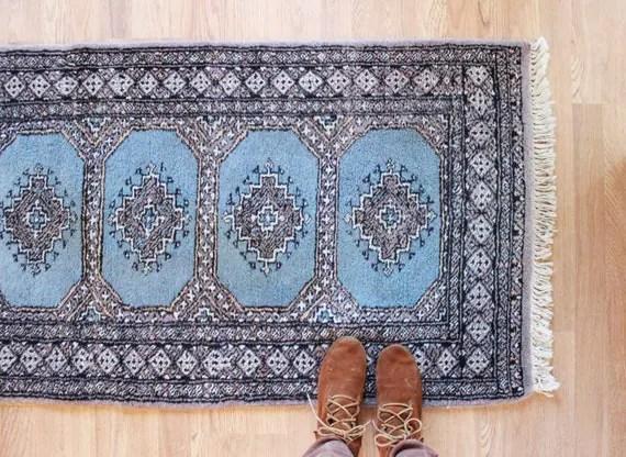 vintage Baluch runner rug, 2.5' x 12'