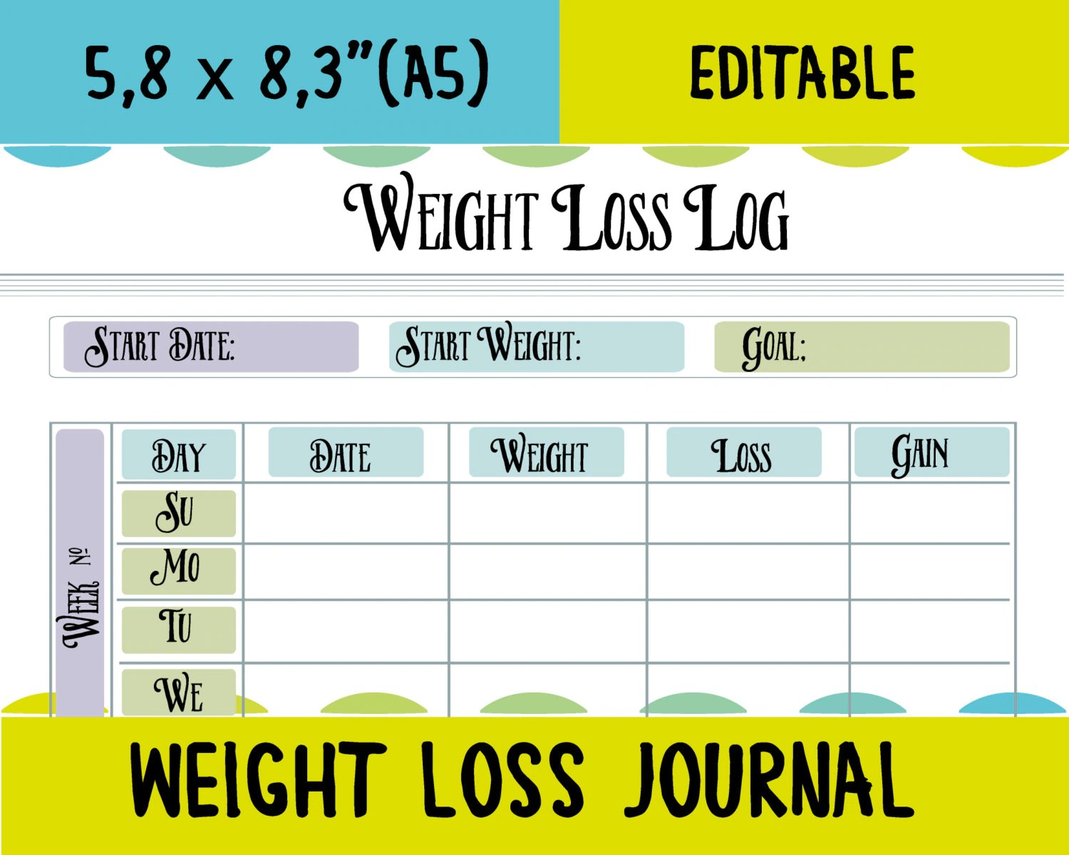 Fitness Tracker Weight Loss Tracker Fitness Printable