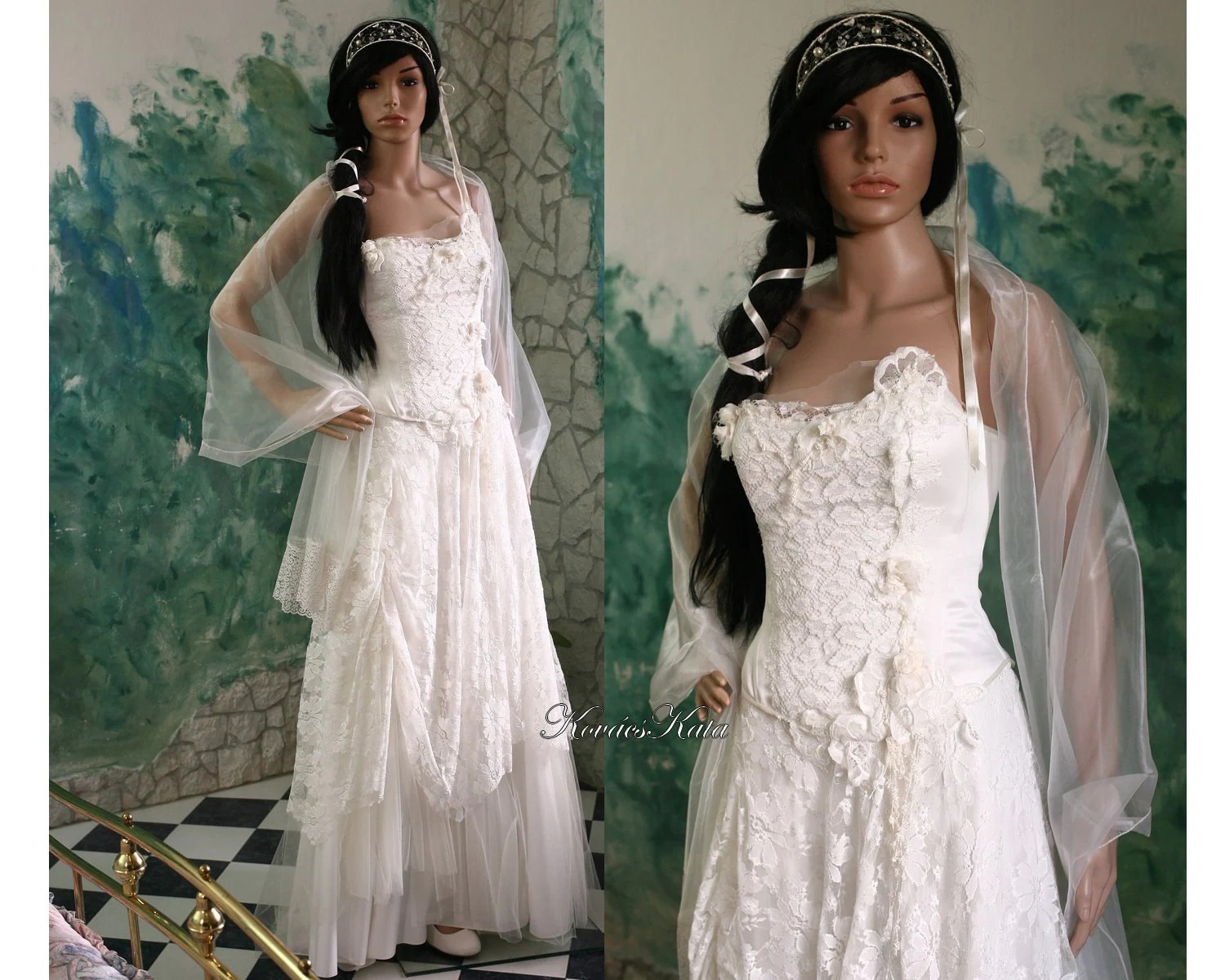 Ethereal Modern Romantic Wedding Gown With French Lace