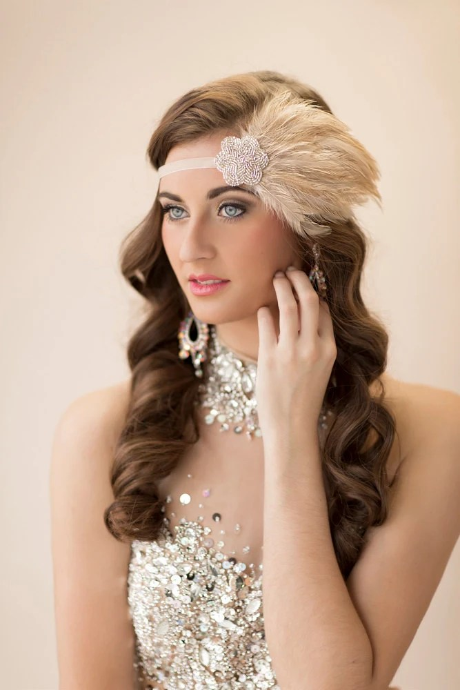 Items Similar To Gatsby Headpiece For 20s Champagne Dress