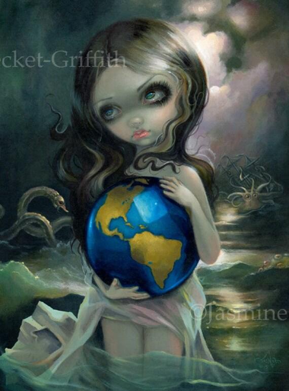 Items Similar To The World Mermaid Fairy Art Print By