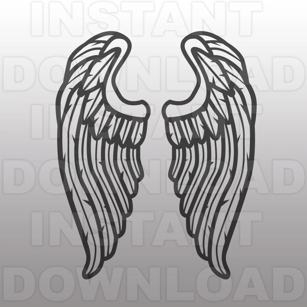 image regarding Angel Wing Stencil Printable called Printable Angel Wings Template Printable Treatscom