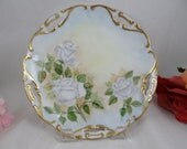 Vintage Hand Painted Whit...