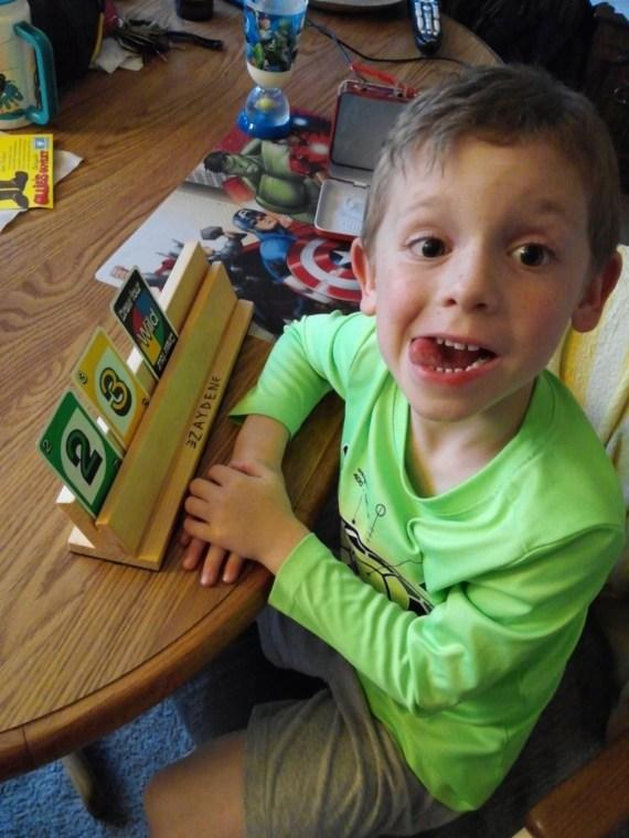 Wooden Card Rack