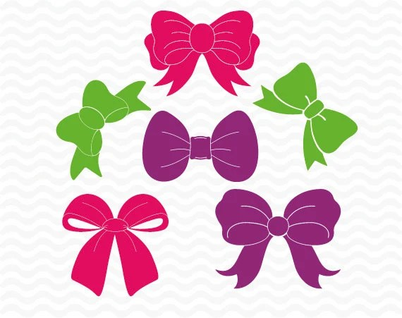 Download Bow designs, SVG DXF EPS, vinyl, Scrapbooking cutting ...