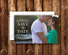 Elegant Modern Save the Date Announcement Wedding Invitation Photo Card 5x7 Digital File or Printed Invites