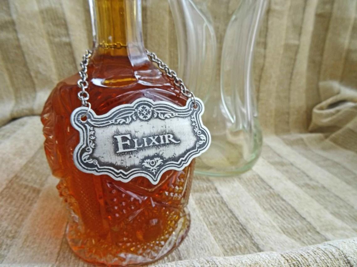 Elixir Decanter Label, Et...