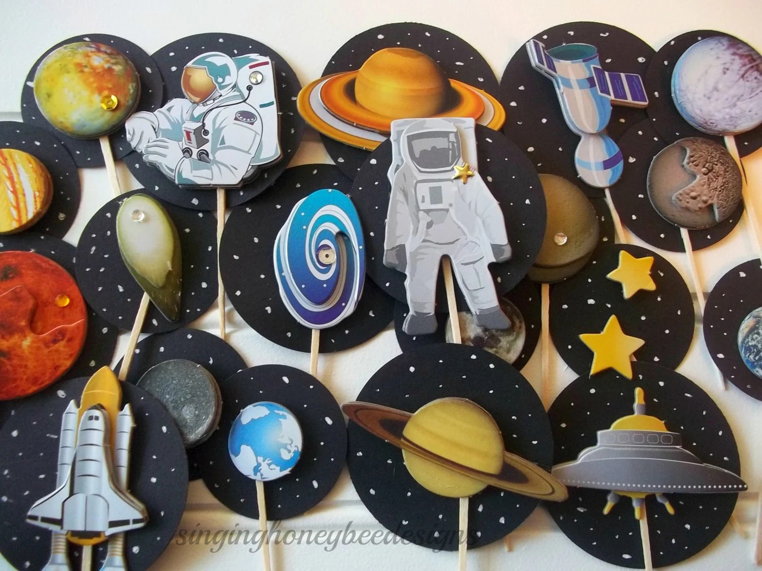 Blast Off Cake Toppers Space Cake Toppers Astronaut