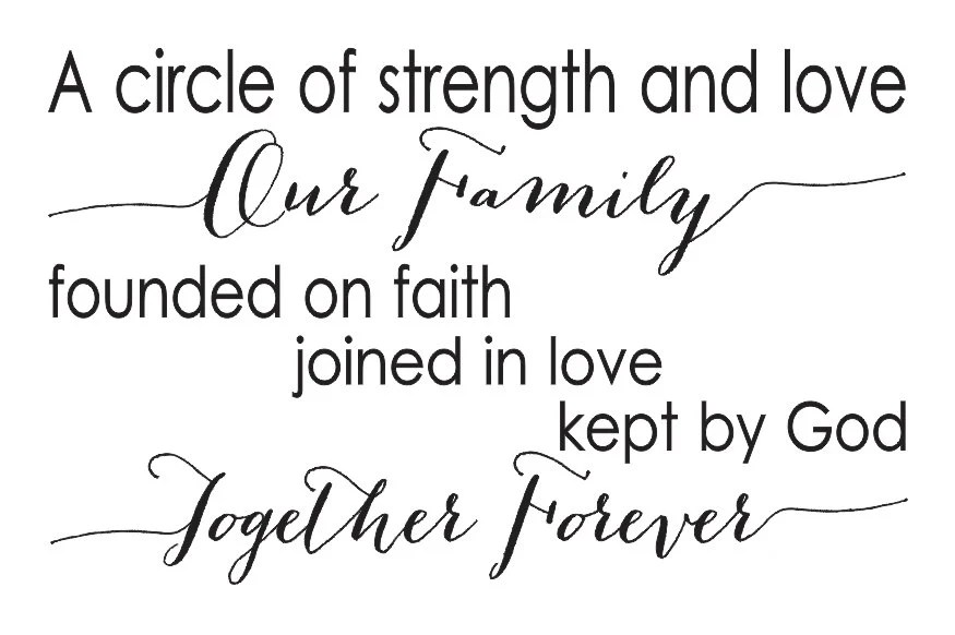 Download Family STENCIL A circle of strength and love Our Family