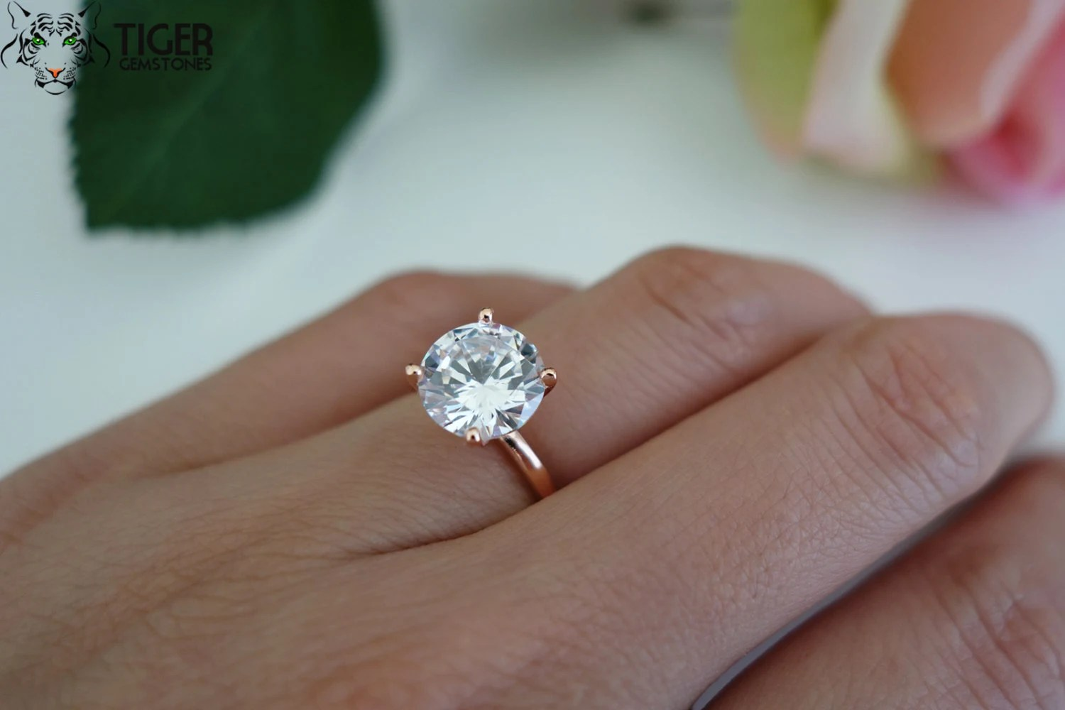 Items Similar To 3 Carat 9mm Solitaire Engagement Ring