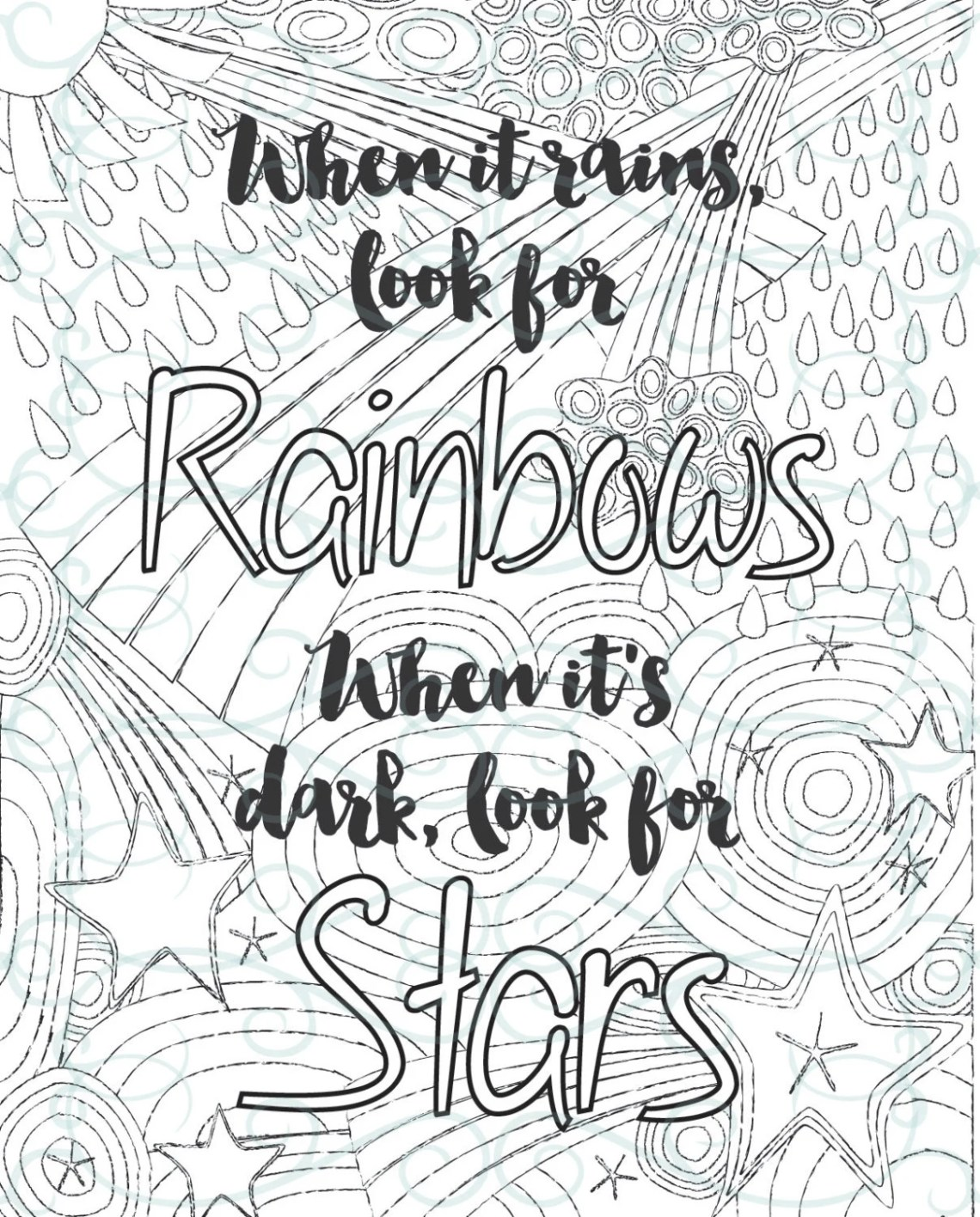 Adult Inspirational Coloring Page printable 02-Look for | free printable coloring pages inspirational quotes