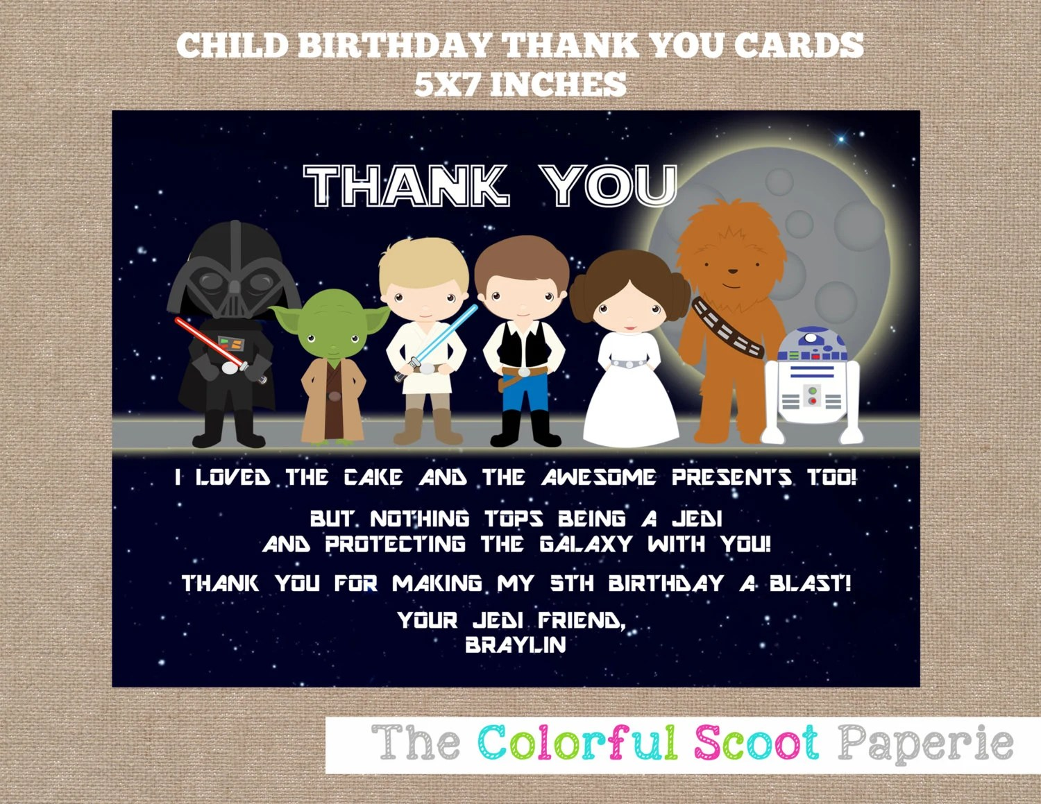 Free Printable Star Wars Thank You Cards
