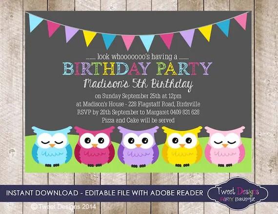 Birthday Invitations You Can Edit
