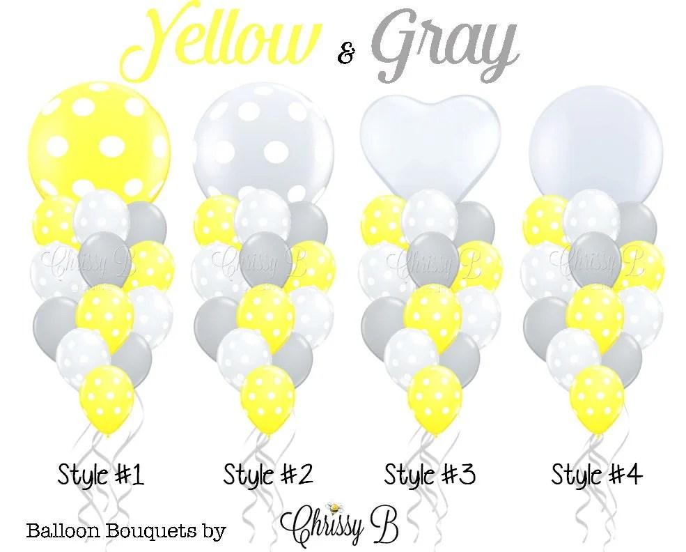Yellow Gray And White Baby Shower