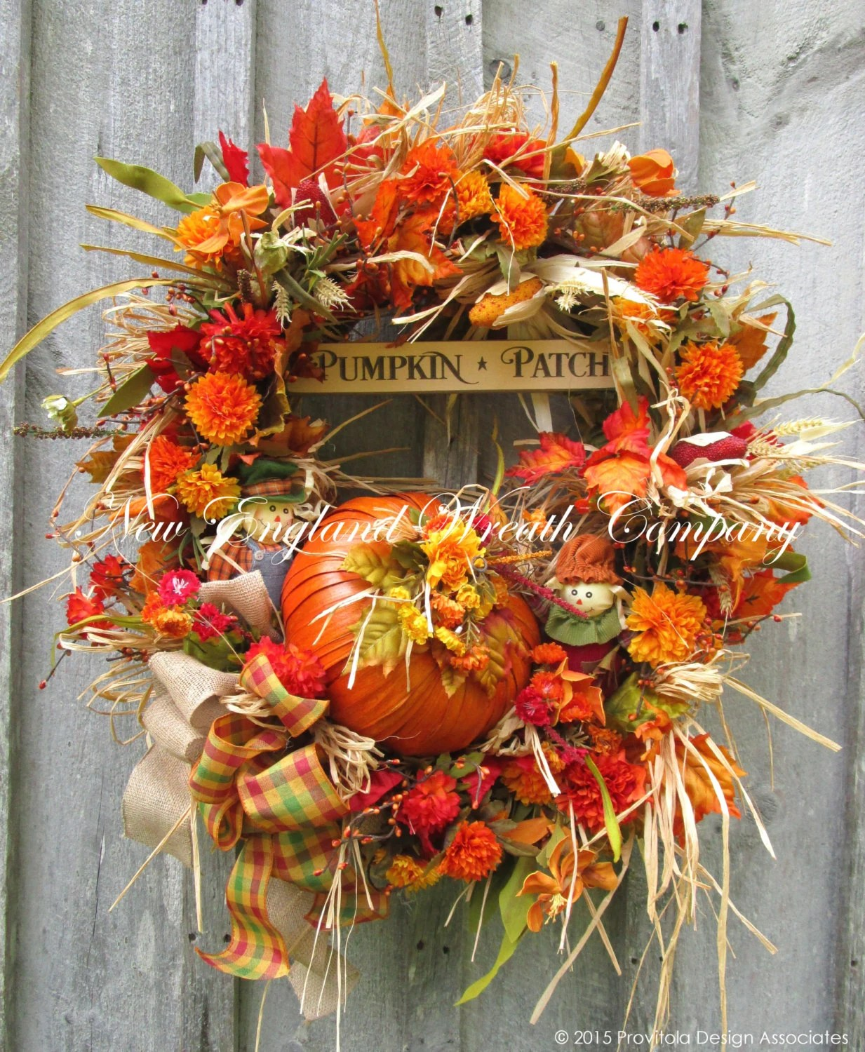 Fall Wreath Autumn Wreaths Pumpkin Wreath Harvest