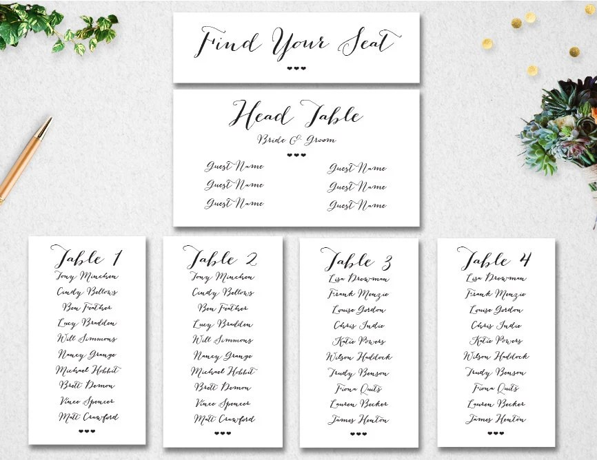 Table Seating Template. seating chart templates wedding table ...