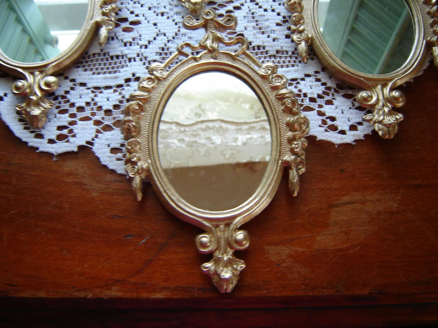 Gold Mirror Metal Mirror Made In Italy Small Wall By