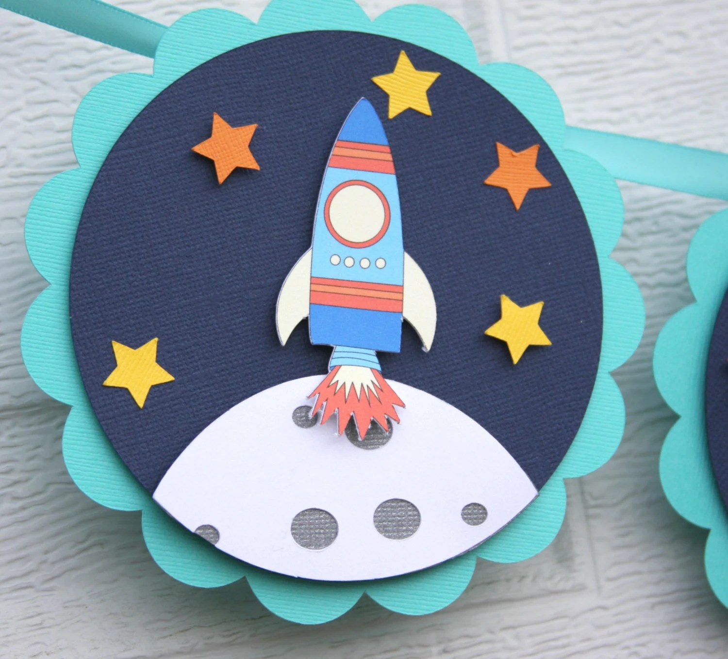 Space Birthday Space Themed Rocket Ship Banner Outer Space