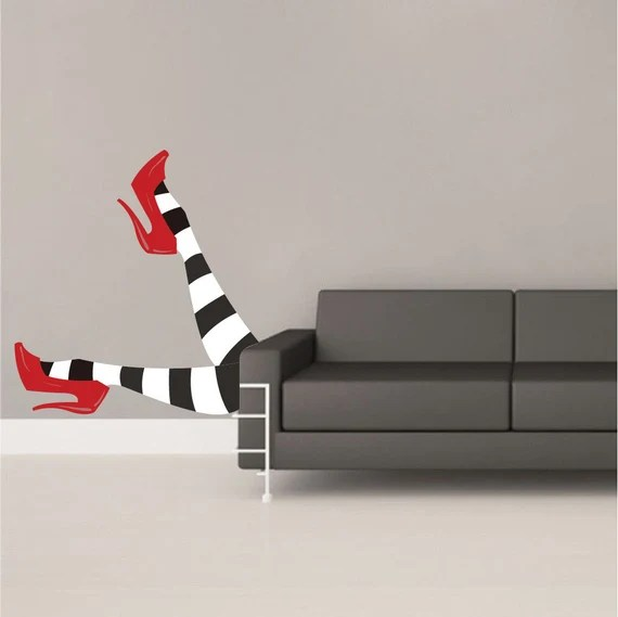 Funny Wicked Witch Legs Wall Decal by PrimeDecal