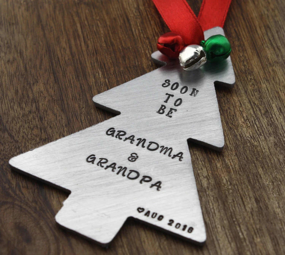 Christmas Pregnancy Announcement Ornament By Sierrametaldesign
