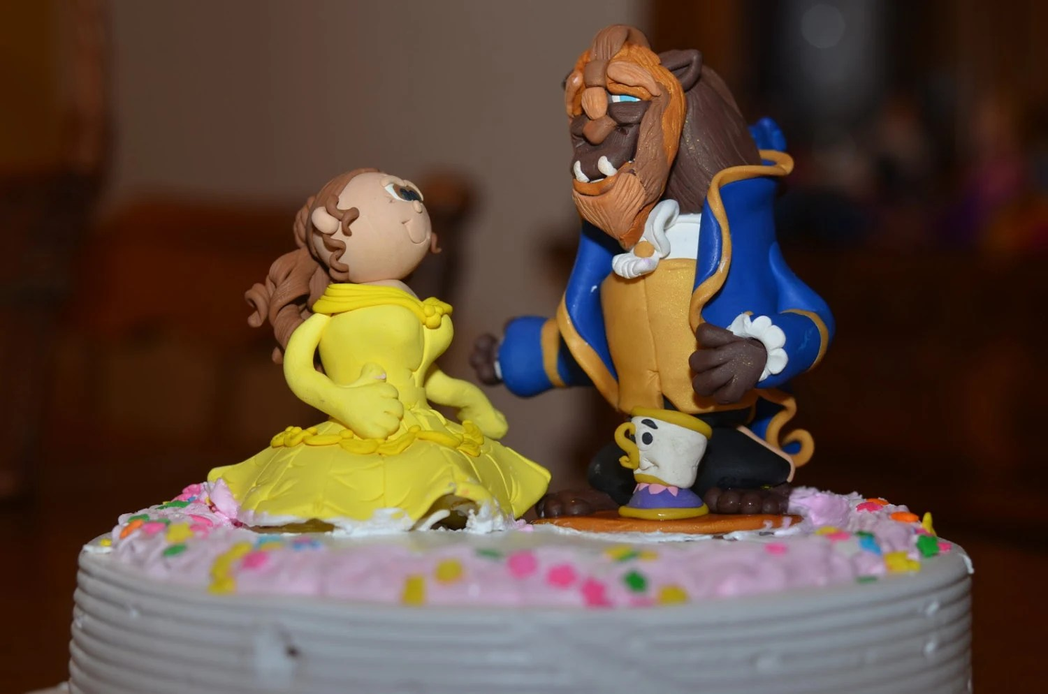 Cake Topper Beauty And The Beast Disney By Claycutiesbymelissa
