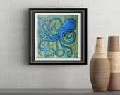 Sunshine Octopus Signed Art Print of Signature Original By Rafi Perez