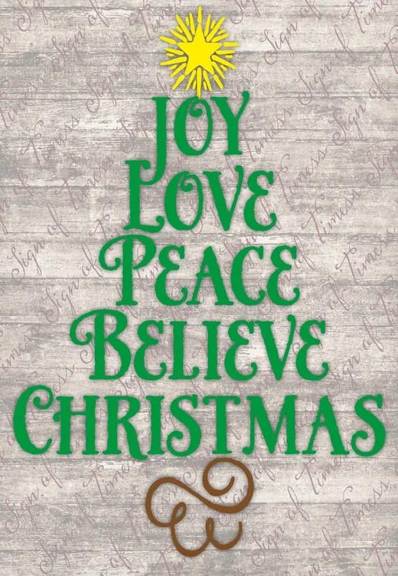 Download Items similar to Christmas SVG, DFX, PNG, Joy, Love, Peace ...