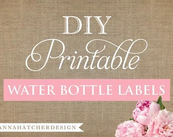 Diy Personalized Water Bottle Labels Poemsromco - Bachelorette water bottle label template