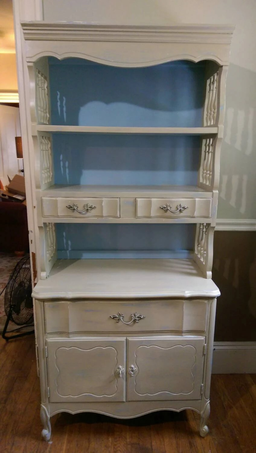 Chalk Paint French Provincial Hutch Shelves Bureau Dining Room Kids Room Nursery Storage Shabby