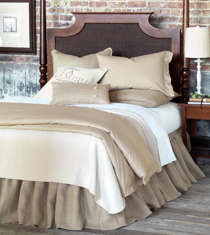 Natural Linen Bed Skirt King Size 76 X 80 193 X 203 Cm