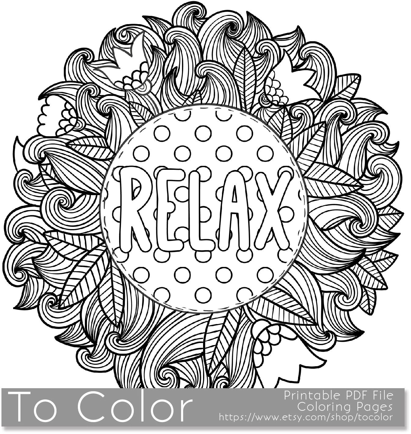 printable relax page for adults pdf jpg by tocolor