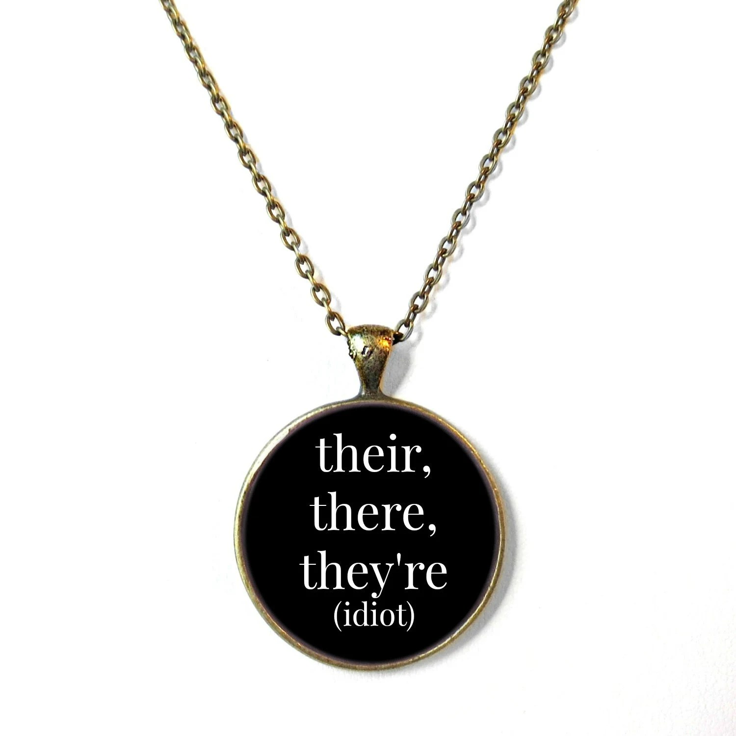 Grammar Police Jewelry Their There They Re Necklace