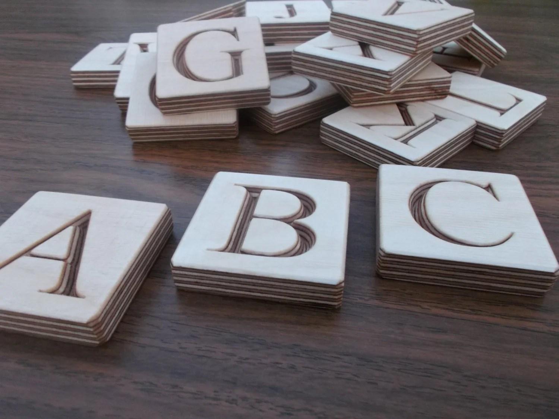 Abc Blocks Wooden English Alphabet Blocks By Woodpeckerlg