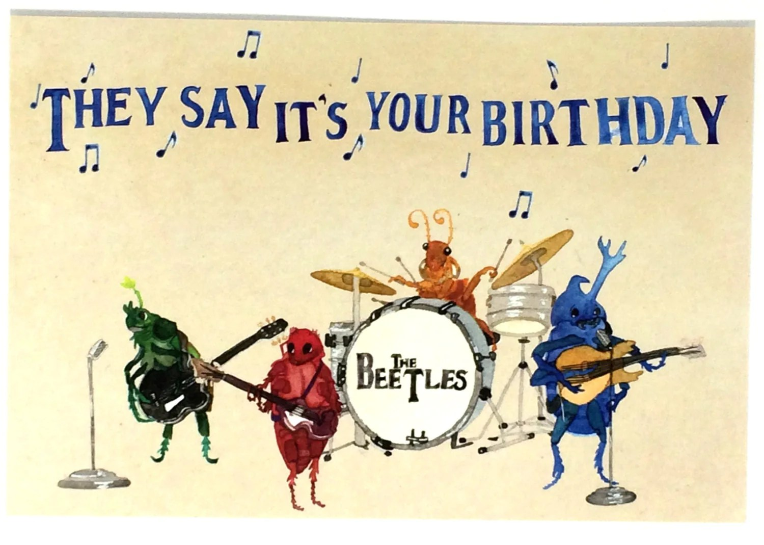 Beatles Birthday Party Invitations