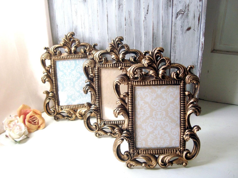 Gold Vintage Style Ornate 5 X 7 Frame, Table Number Frames