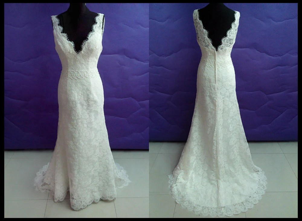 Simple Lace Wedding Dress In Vintage Wedding By