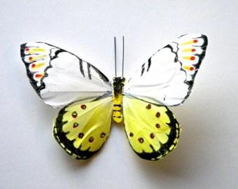 medium red monarch butterfly hair clip