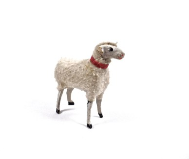 Antique German PUTZ Sheep, Antique German Christmas Decoration, Putz Christmas