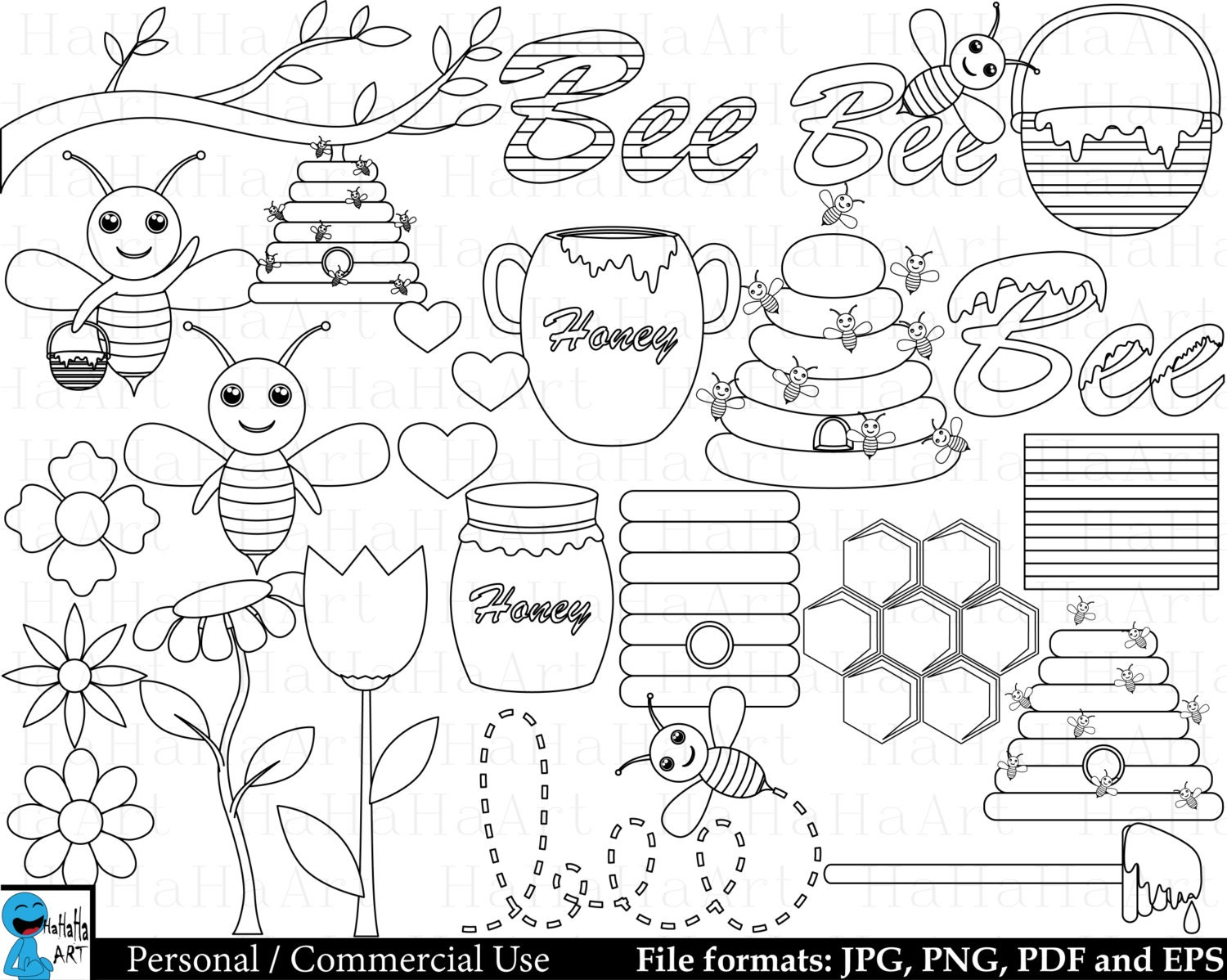 Outline Bees