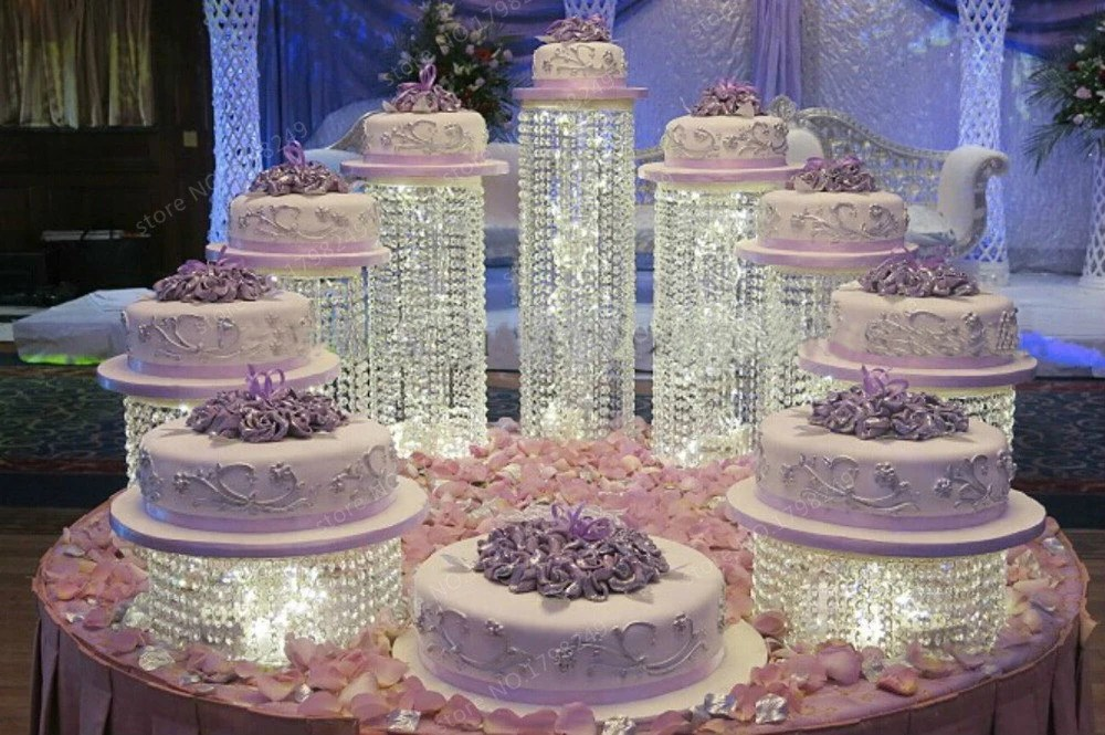 Crystals Tall Stand Cake