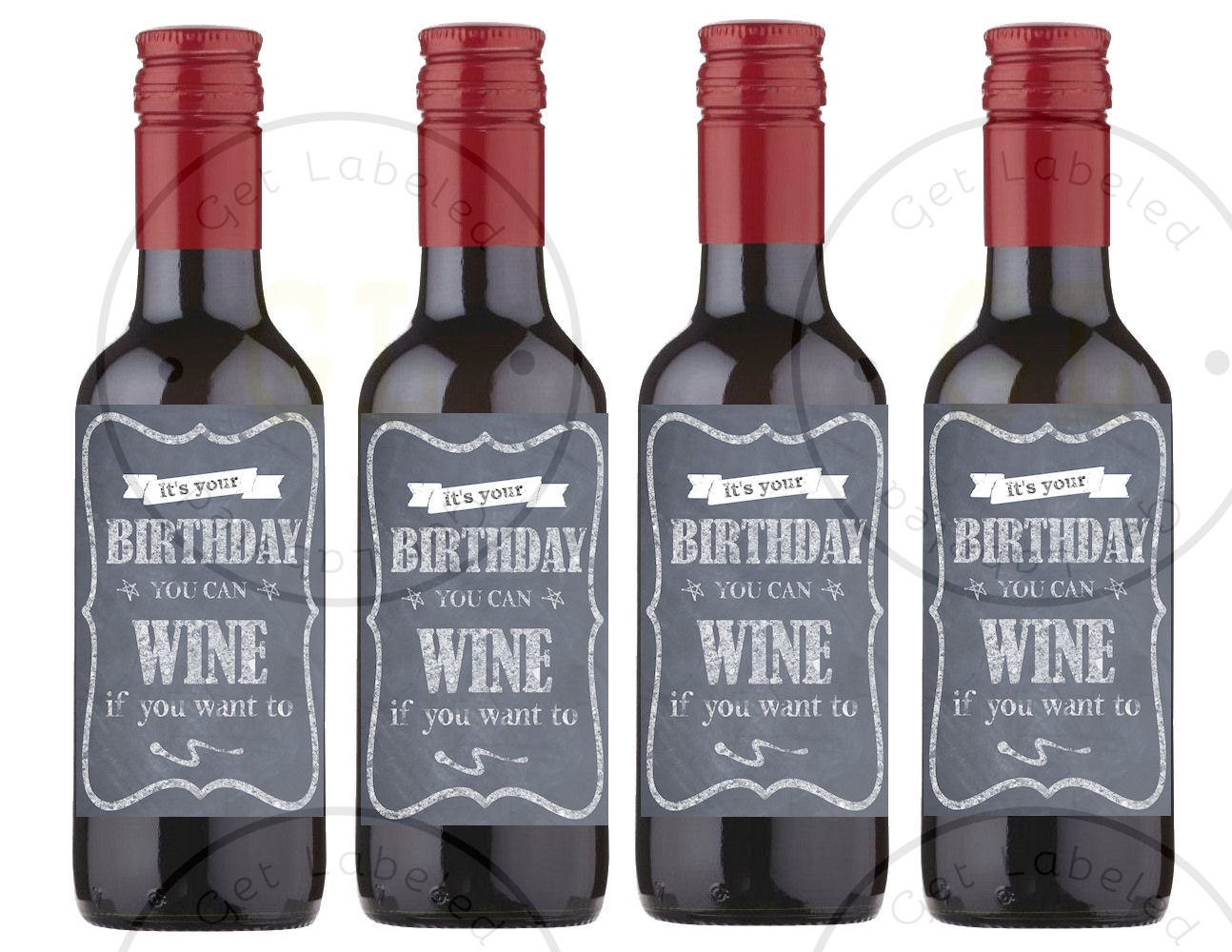 Instant Download Printable Mini Birthday Party Wine Labels