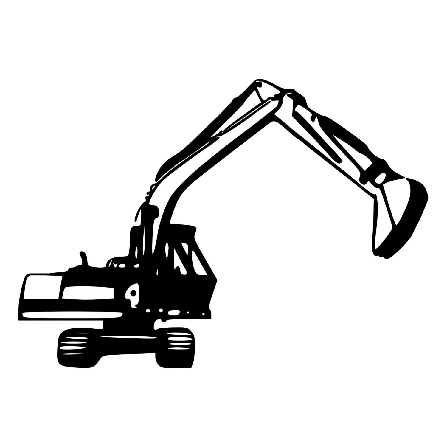 Track Hoe Excavator Construction Cut Decal Car Window Wall