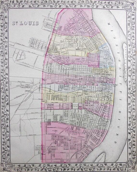 Map St Louis Streets Mocity