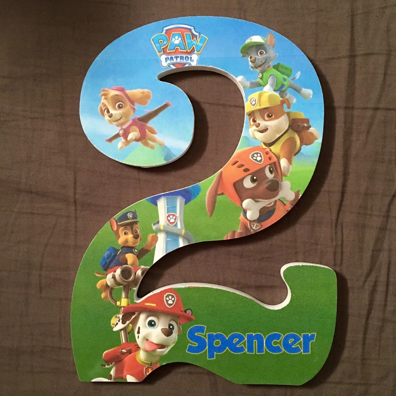 Custom Wooden Letters Or Numbers Hanging Paw By