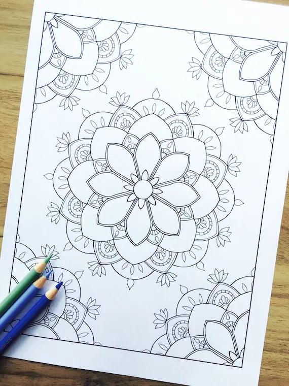 Corner Draw Mandala Designs Easy