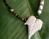 Silver Leaf Pendant  | Me...