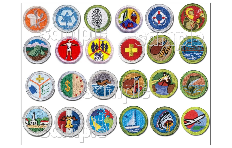 Scout Merit Badge Sheet Customized Edible Cake Decoration