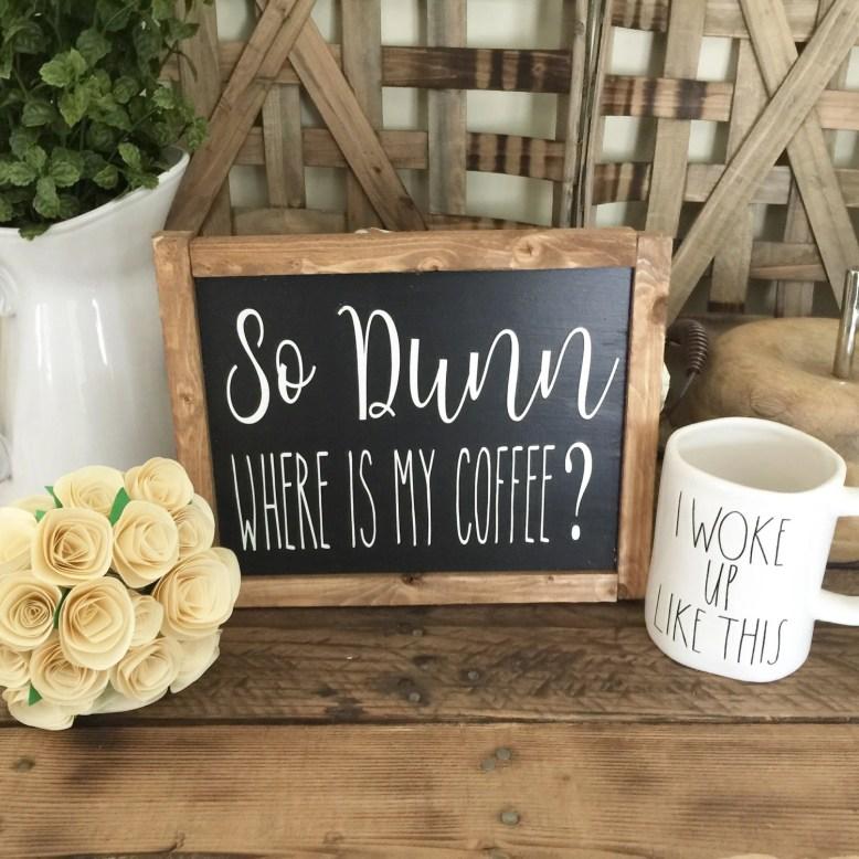 So Dunn Wooden Framed Cof...