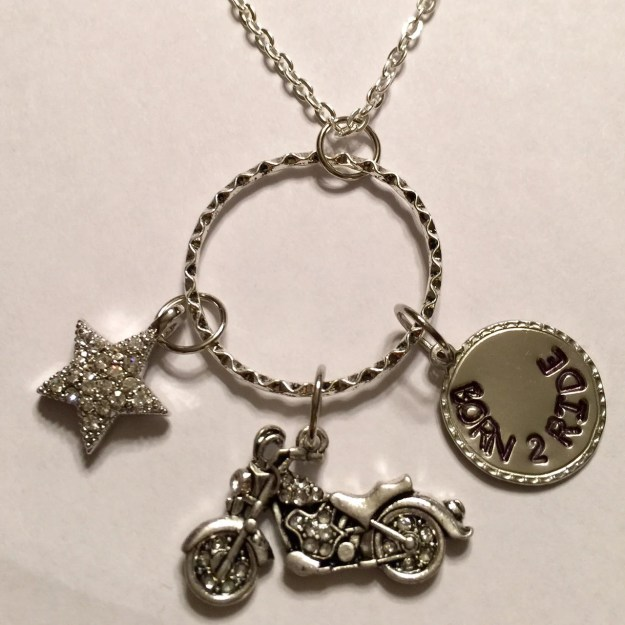 Born to Ride Charm Necklace